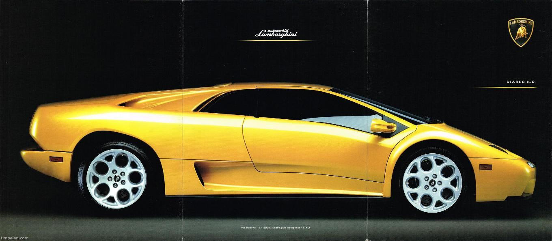 Scans Of Lamborghini Diablo 6 0 Brochure 2000a1