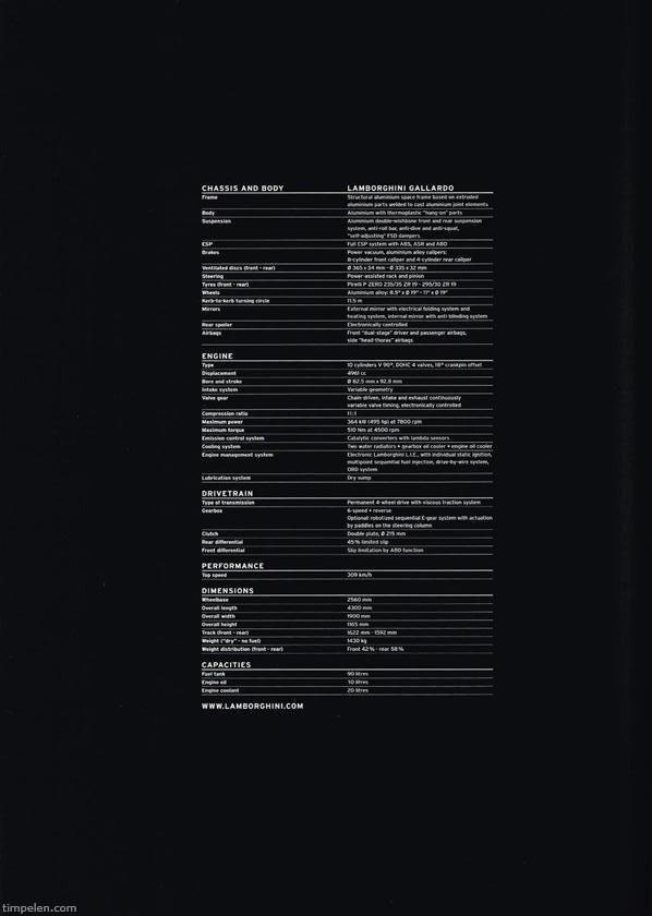 Scans Of Lamborghini Gallardo Brochure 2004a1 Timpelen Com
