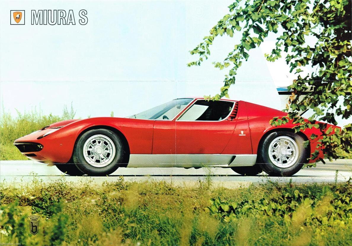 Scans Of Lamborghini Miura S Brochure 1969a1 Timpelen Com
