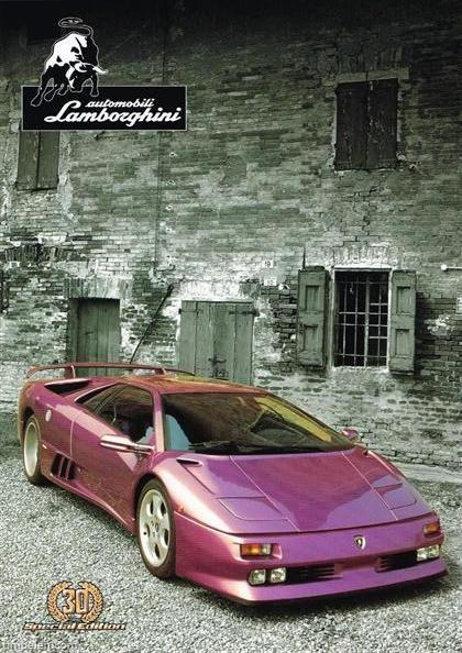 Scans Of Lamborghini Diablo Se30 Brochure 1995b2