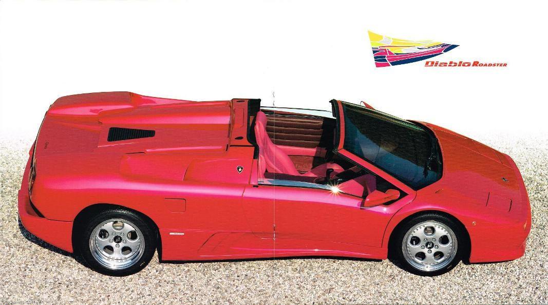 Scans Of Lamborghini Diablo Roadster Brochure 1996b1