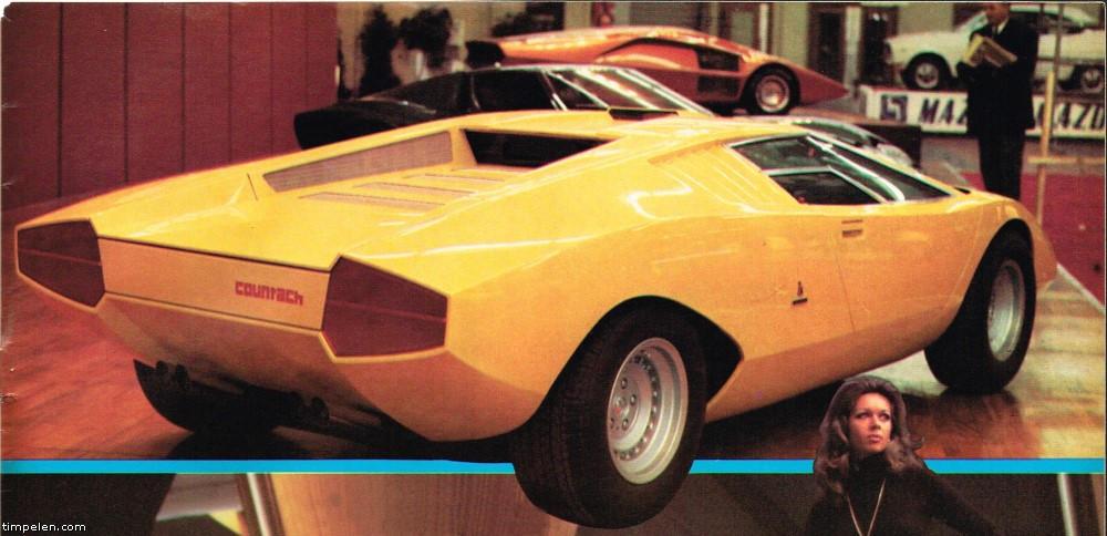 Lamborghini Countach Lp500 Prototype Car Magazine Scans