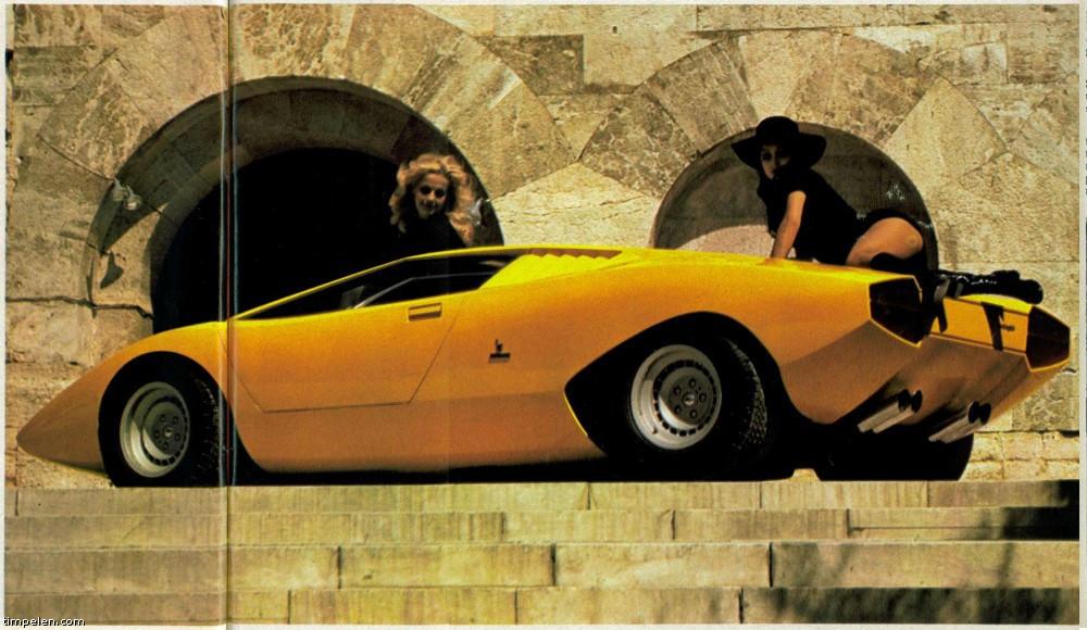 Lamborghini Countach Lp500 Prototype Scans From 1971 74 Magazines