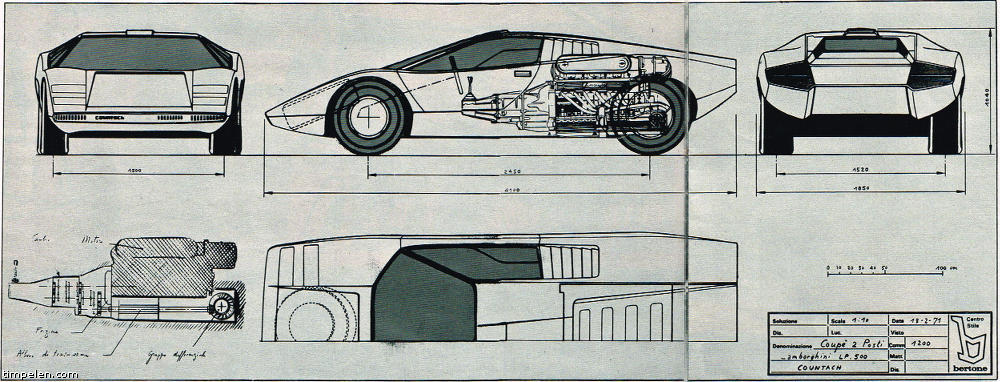 Lamborghini Countach Lp500 Prototype Scans From 1971 74 Magazines